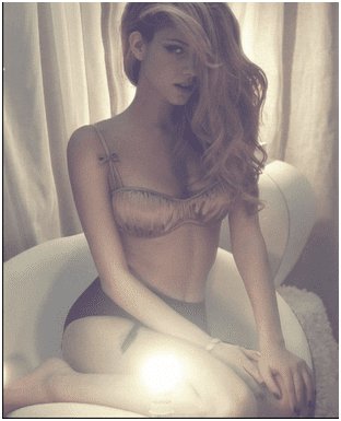 Blonde Posing Model