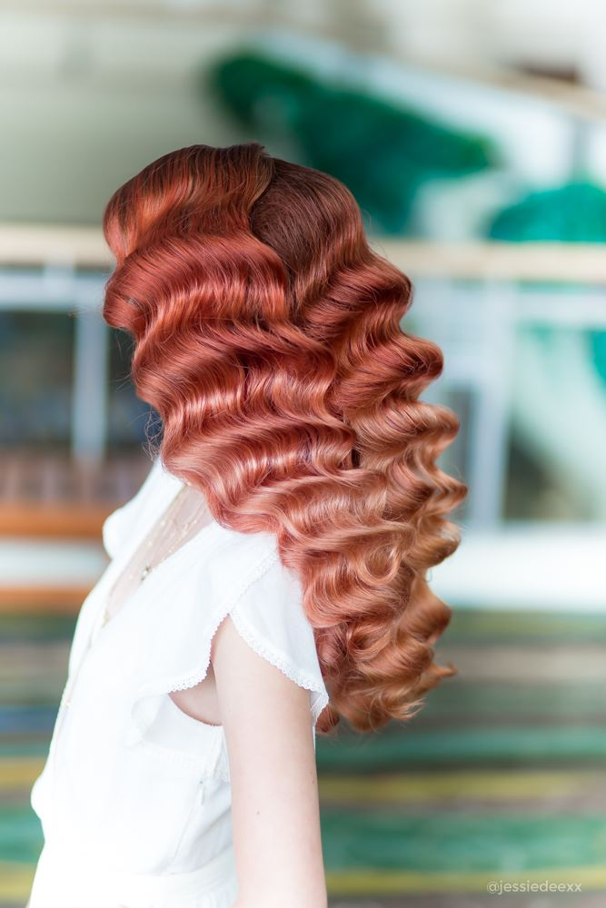 hollywood waves with red ombre at premiere orlando 2018