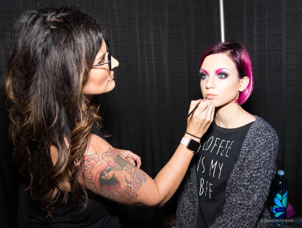 beauty makeup artist for hairshow on model